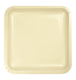 """Creative Converting Ivory - Plates, 9"""" Square Paper 18ct"""