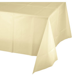 Creative Converting Ivory - Tablecover, 54x108 Plastic