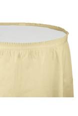 Creative Converting Ivory - Tableskirt, 14' Plastic