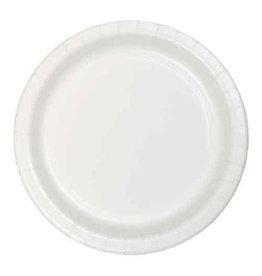 "Creative Converting White - Plates, 7"" Round Paper  24ct"