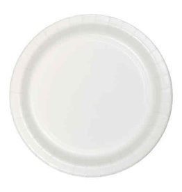 "Creative Converting White - Plates, 9"" Round Paper 24ct"