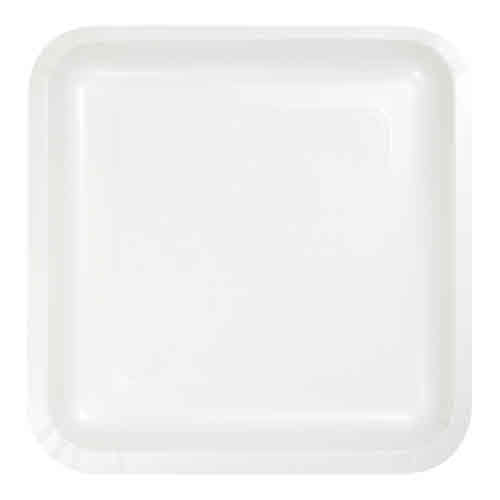 "Creative Converting White - Plates, 9"" Square Paper 8ct"