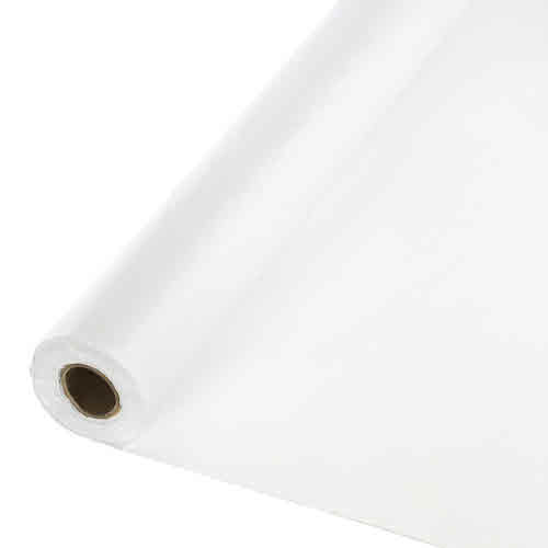 Creative Converting White - Table Roll, Plastic  250 ft