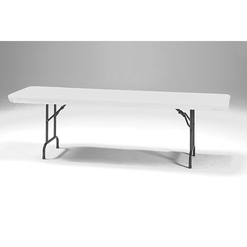 Creative Converting White - Tablecover, 30x96 Stay Put Plastic