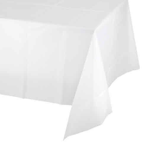 Creative Converting White - Tablecover, 54x108 Plastic