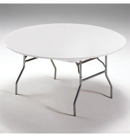 """Creative Converting White - Tablecover, 60"""" Round Stay Put Plastic"""
