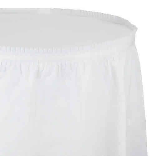 Creative Converting White - Tableskirt, 14' Plastic