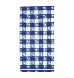Creative Converting Blue Gingham - Tablecover, 54x108 Plastic