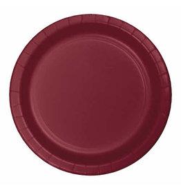 "Creative Converting Burgundy - Plates, 10"" Round Paper 24ct"