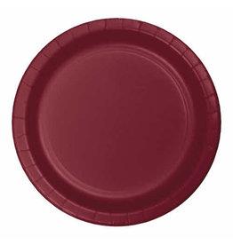 "Creative Converting Burgundy - Plates, 7"" Round Paper 24ct"