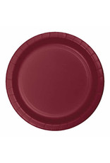 "Creative Converting Burgundy - Plates, 9"" Round Paper 24ct"