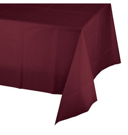 Creative Converting Burgundy - Tablecover, 54x108 Plastic