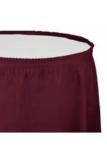 Creative Converting Burgundy - Tableskirt, 14' Plastic