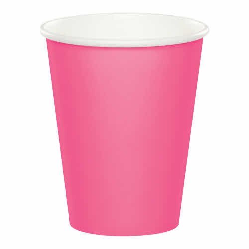 Creative Converting Candy Pink - Cups, 9oz Paper 24ct
