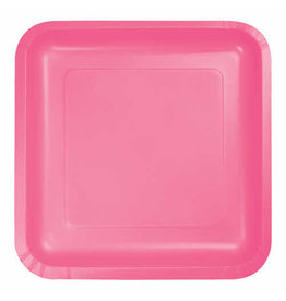 """Creative Converting Candy Pink - Plates, 7"""" Square Paper 18ct"""
