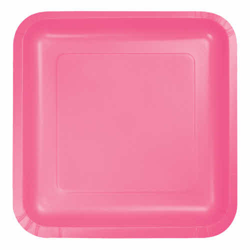 "Creative Converting Candy Pink - Plates, 7"" Square Paper 18ct"