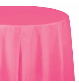 """Creative Converting Candy Pink - Tablecover, 82"""" Rnd Plastic"""