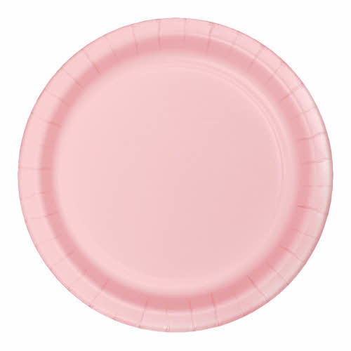 "Creative Converting Classic Pink - Plates 7"" Round Paper 24ct"