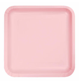 """Creative Converting Classic Pink - Plates, 7"""" Square Paper 18ct"""