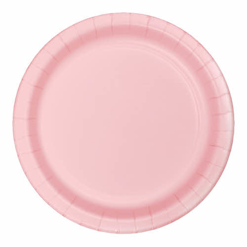"Creative Converting Classic Pink - Plates, 9"" Round Paper 24ct"