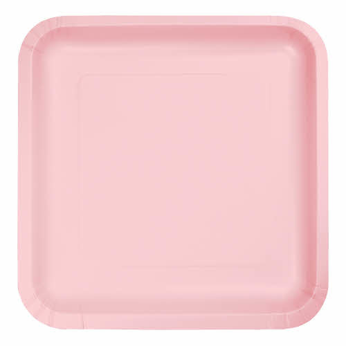 "Creative Converting Classic Pink - Plates, 9"" Square Paper 18ct"