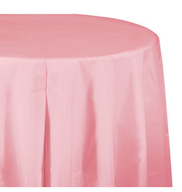 """Creative Converting Classic Pink - Tablecover, 82"""" Rnd Plastic"""
