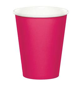 Creative Converting Hot Magenta - Cups, 9oz Paper 24ct