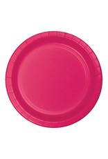 "Creative Converting Hot Magenta - Plates, 10"" Round Paper 24ct"