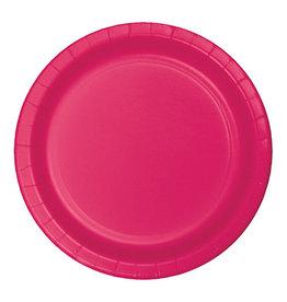 "Creative Converting Hot Magenta - Plates, 9"" Round Paper 24ct"