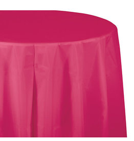 "Creative Converting Hot Magenta - Tablecover, 82"" Rnd Plastic"