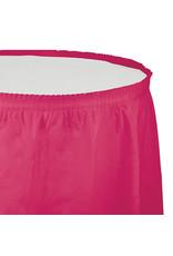 Creative Converting Hot Magenta - Tableskirt, 14' Plastic