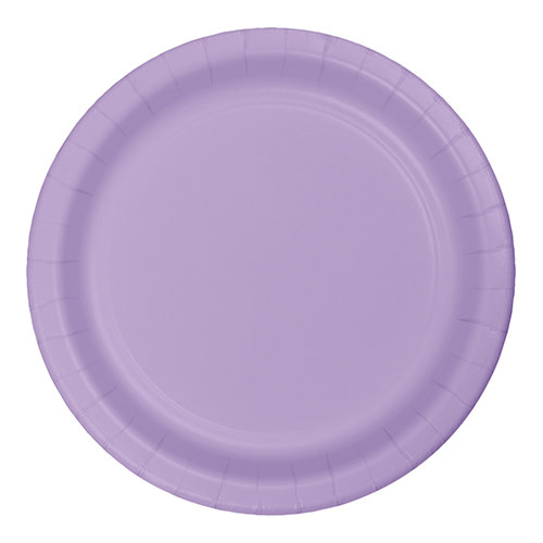 "Creative Converting Luscious Lavender - Plates, 10"" Round Paper 24ct"