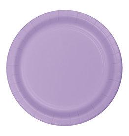 "Creative Converting Luscious Lavender - Plates, 7"" Round Paper 24ct"