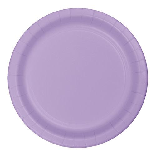 "Creative Converting Luscious Lavender - Plates, 9"" Round Paper 24ct"