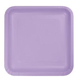 "Creative Converting Luscious Lavender - Plates, 9"" Square Paper 18ct"