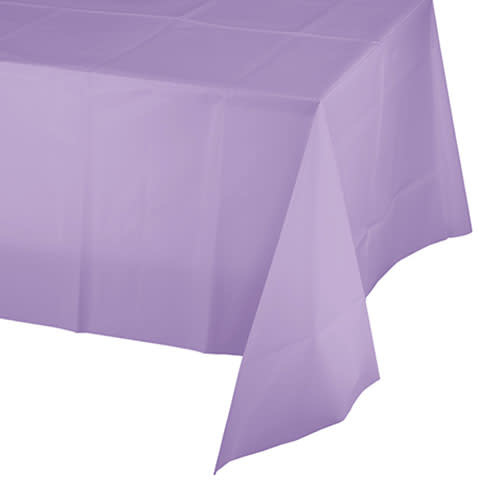 Creative Converting Luscious Lavender - Tablecover, 54x108 Plastic