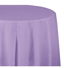 """Creative Converting Luscious Lavender - Tablecover, 82"""" Rnd Plastic"""