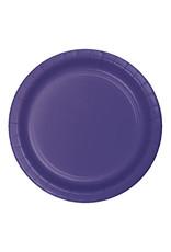 "Creative Converting Purple - Plates, 10"" Round Paper 24ct"