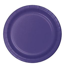 "Creative Converting Purple - Plates, 7"" Round Paper 24ct"