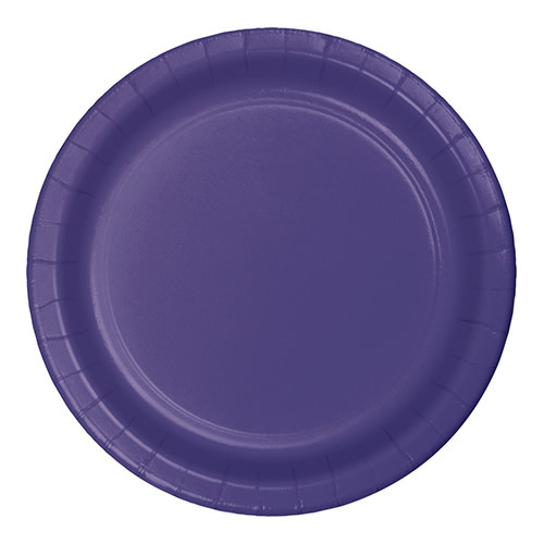 "Creative Converting Purple - Plates, 7"" Round Paper 24ct"