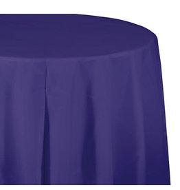"Creative Converting Purple - Tablecover, 82"" Rnd Plastic"