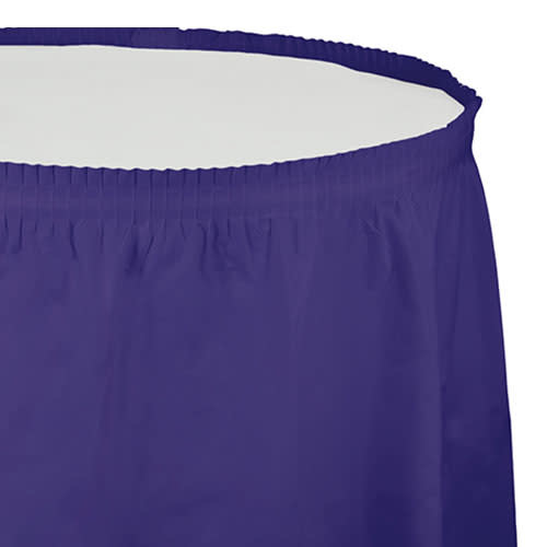 Creative Converting Purple - Tableskirt, 14' Plastic