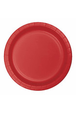 "Creative Converting Classic Red - Plates, 10"" Round Paper 24ct"