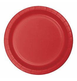 """Creative Converting Classic Red - Plates, 10"""" Round Paper 24ct"""