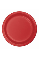 """Creative Converting Classic Red - Plates, 7"""" Round Paper 24ct"""
