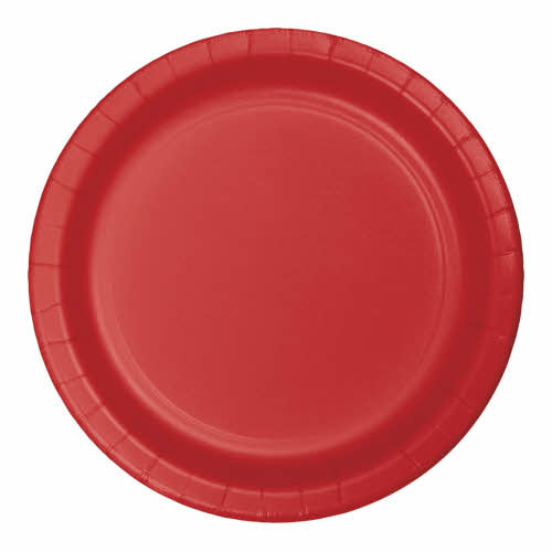 """Creative Converting Classic Red - Plates, 9"""" Round Paper 24ct"""
