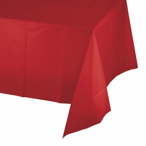 Creative Converting Classic Red - Tablecover, 54x108 Plastic