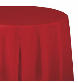 """Creative Converting Classic Red - Tablecover, 82"""" Rnd Plastic"""