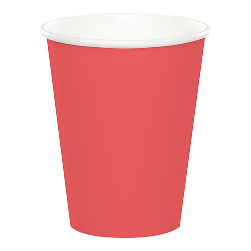 Creative Converting Coral - Cups, Paper 9oz