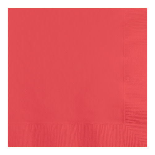 Creative Converting Coral - Napkins, Luncheon 50ct